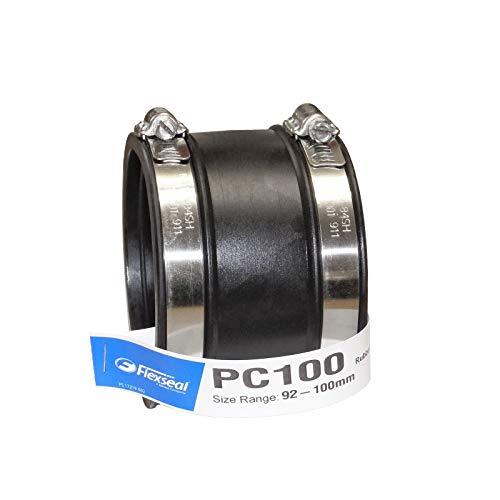Flexseal (Fernco) PC100 Gerade – 92–100 mm EPDM Flexible Gummi-Kupplung für...