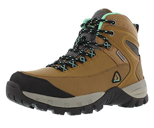 OTAH Forestier Womens Waterproof Hiking Mid-Cut Camel/Teal Boots Size 8