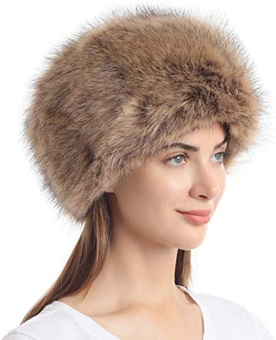 La Carrie Women s Faux Fur Hat For Winter With Stretch Cossack Russion Style Nature product image