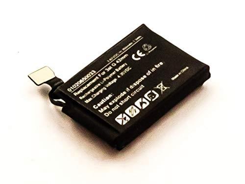 Accu geschikt voor Apple Watch 3 42 mm, Li-Polymer, 3,82 V, 350 mAh, 1,3 Wh, ingebouwde inch, zonder gereedschap A1850 accu