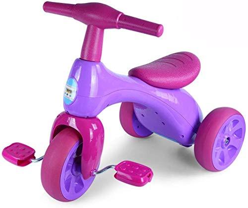 WLD kindertrainingsvoertuig, frame, kinderwagen, babyskatebike, kinderfiets, S-driewieler, 1-2-4 jaar, jongens en meisjes, fietsen, kinderen, driewieler, stil, 3 kleuropties, 42 x 57 x 34 cm lila