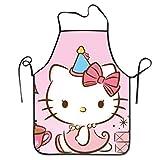 DianaRMurdhy Hello Kitty - Grembiule da cucina professionale regolabile con mucche - Grembiule da donna comodo perfetto per la guida alla cucina
