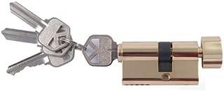 Andersen Storm Door Key Cylinder Lock in Brass Finish (Kwikset Brand)