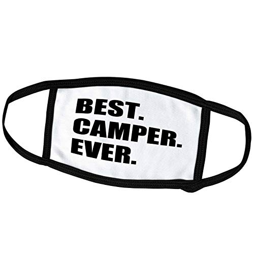 3dRose InspirationzStore Typography - Best Camper Ever - Bold Text for Camping Fan or Camp Hater Ironic use - Face Masks (fm_179763_2)