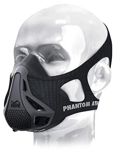 Phantom Athletics Training Mask - Aumente su Rendimiento en el Deporte - Negro - M