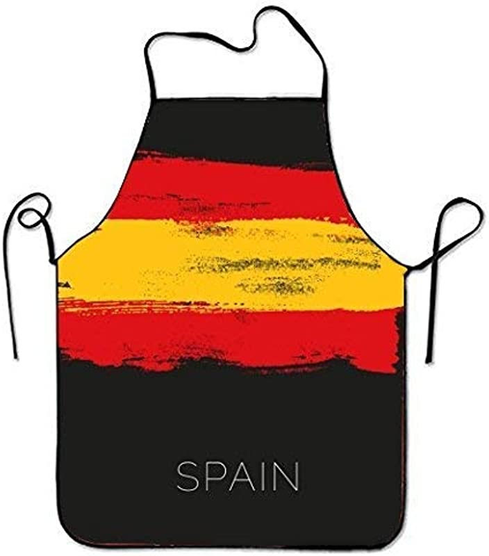 Ashasds Custom Chef Apron Colorful Paintings In Spain For Women Men Waitress Baking Crafting Gardening Cooking Girlling Barber Pinafore