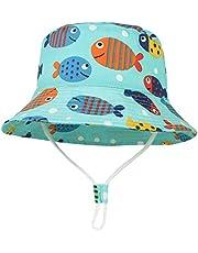 GEMVIE Cappello da Sole Neonato Bucket Hat Anti-UV Cappello Pescatore Bambino Bambina Estivo Protezione Solare per Spiaggia Vacanza Viaggio Outdoor