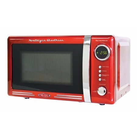 Nostalgia RMO770RED Retro Series 0.7 cu. ft. 700W Microwave Oven / Color: Red