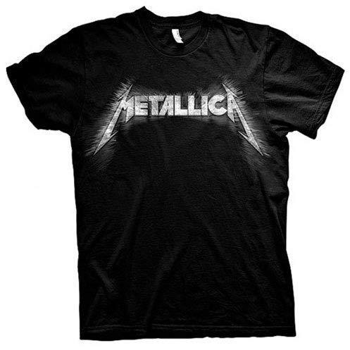 Metallica Spiked_Men_bl_TS:2XL T-Shirt, Nero (Black Black), XX-Large Uomo
