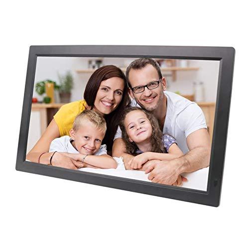 JJIIEE Full HD Digital Bilderrahmen 21 Zoll 1920x1080 IPS-Bildschirm, Unterstützung SD-Karte, Teilen von Fotos und Videos über App, E-Mail, Cloud, Stereo-Video-Musik-Player, Schwarz