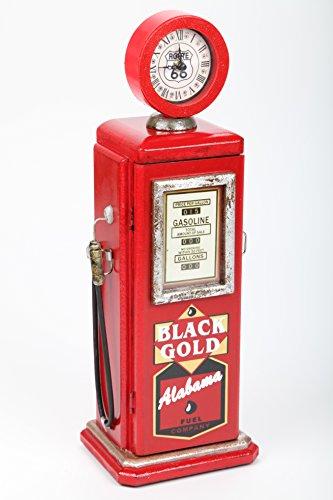point home - Armadio di design a colonna con orologio, stile retrò, rosso, 54 cm