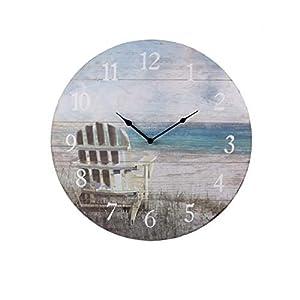 41yPEp5FXfL._SS300_ Coastal Wall Clocks & Beach Wall Clocks