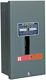 Square D by Schneider Electric QO24L70SCP QO 70-Amp 2-Space 4-Circuit Indoor Main Lugs Load Center with Surface Mount Cover