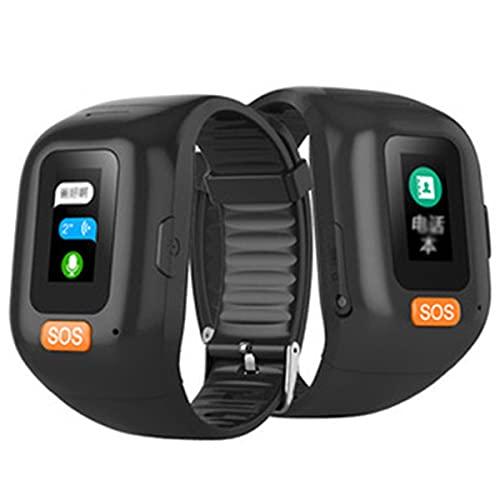 FVIWSJ Pulsera SOS Rastreador GPS para Personas Mayores Llamada de Emergencia SOS, Ubicación GPS, Teléfono, Ayuda en Caso de Emergencia IP67 Reloj Inteligente a Prueba de Agua
