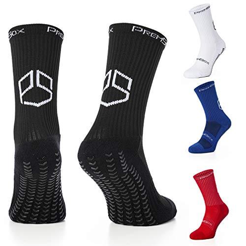 Herren Fußball-Anti-Rutsch-Socken innen und außen, niedrige, Crew Team für Laufen, Rugby, Basketball, Fitness, Blau, Rot, Weiß Schwarz UK5.5 to 11 EU39 to 46