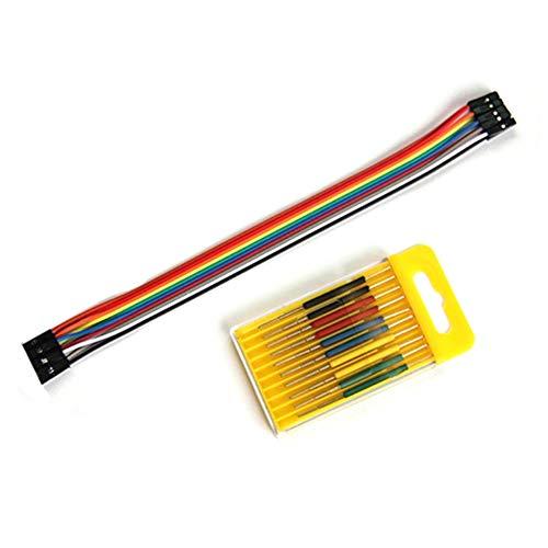 tellaLuna 10 Teilige IC Klemme SOP/SOIC/TSSOP/TSOP/SSOP/MSOP/PLCC/QFP/TQFP/LQFP/SMD IC Test Chip Pin Chips Buchse
