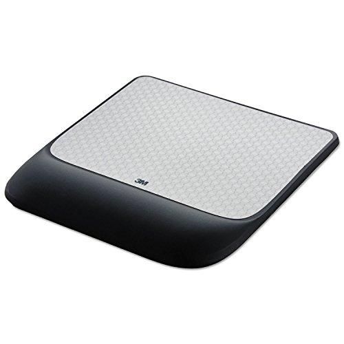 3M MW85B Mouse Pad w/Precise Mousing Surface w/Gel Wrist Rest, 8 1/2x 9X 3/4, Solid Color
