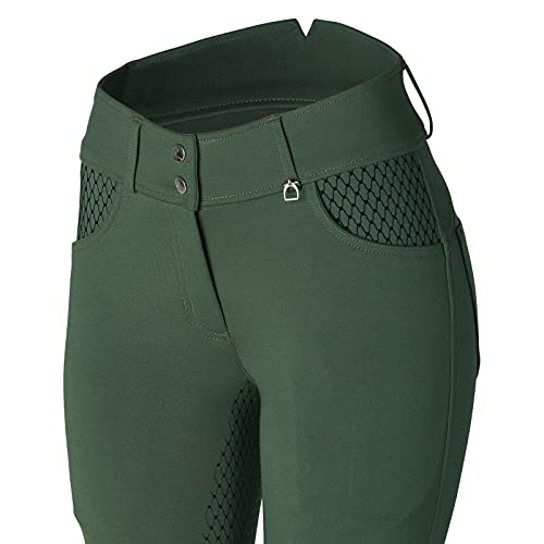 Product Image 6: HORZE Limited Edition Womens Eva Full Seat High Waist Breeches – Cilantro Green – 32