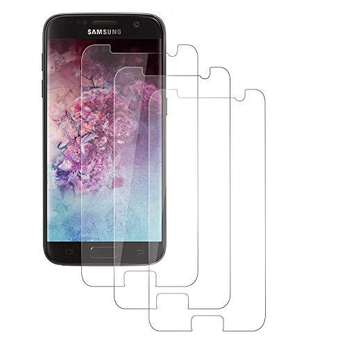 PUUDUU [3 Pack Cristal Templado para Samsung Galaxy S7, Dureza 9H, Anti-Rasguños, Sin Burbujas, Vidrio Templado Protector de Pantalla para Samsung Galaxy S7