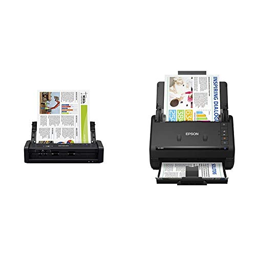 Buy Bargain Epson Workforce ES-300W Wireless Color Portable Document Scanner & Workforce ES-400 Colo...