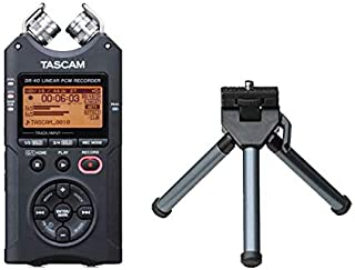TASCAM (タスカム) リニア PCM レコーダー 日本語表示対応版 DR-40VER2-J + ミニ三脚 セット