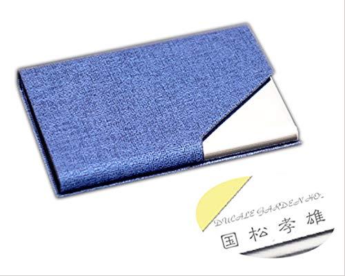 【名入れ無料/ラッピング無料】名刺入れ 名刺ケース メンズ 化粧箱 仕切りカード 専用クロス 名刺が折れな カラフル 合成革 98*65*13 ブルー
