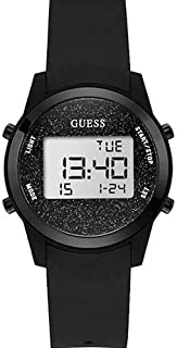Guess Women's Black Dial Silicone Band Watch - W1031L2