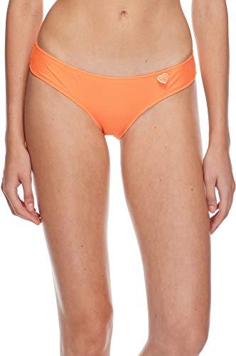 Body Glove Women's Smoothies Eclipse Solid Surf Rider Bikini Bottom Swimsuit, Mango, Large
