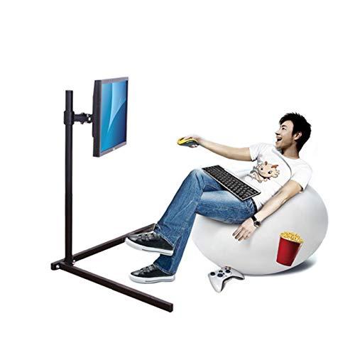 TabloKanvas Soporte de Suelo para TV Soporte Giratorio Soporte para Monitor LCD LED Soporte de Montaje para TV Altura 100 Cm Fácil de Instalar Peso Ligero (Color : Black)