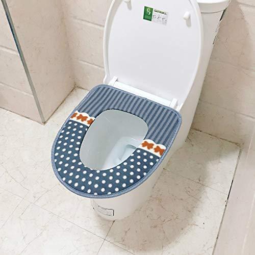 2 unids suave baño inodoro cubierta lavable cojín pana asiento tapa pad Mat super caliente