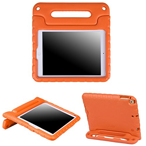 HDE iPad 6th Generation Case for Kids – iPad 9.7 inch 5th and 6th Generation Cases for Kids Shock Proof Protective Light Weight Cover with Handle Stand for Apple iPad 9.7 with Pencil Holder - Orange