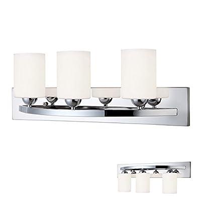Chrome 3 Bulb Bath Vanity Light Bar Fixture Interior Lighting