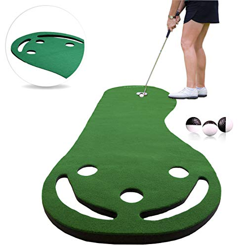 Rukket Putting Green & Golf Chipping Net Bundle | Indoor & Outdoor Practice Greens | Mats...