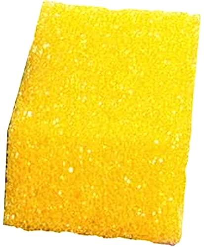 BRICOLAGEPRO - 4 Eponges Jaunes ou blanches spéciales pour Pierre de Nettoyage, Pierre d'argent, Pierre d'argile et Toute Pierre Blanche Naturelle