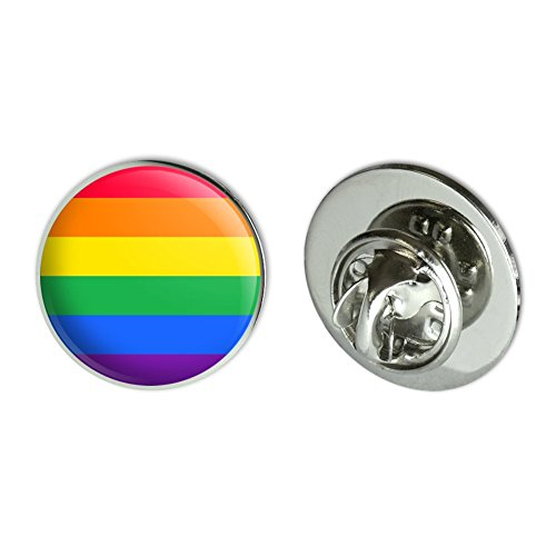 GRAPHICS & MORE Rainbow Pride Gay Lesbian Contemporary Metal 0.75' Lapel Hat Pin Tie Tack Pinback