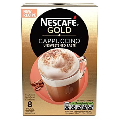 Nescafe Instant Cappuccino (Unsweetened) in Individual Pockets 3 Packs