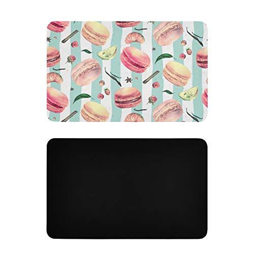 Imanes cuadrados de la etiqueta engomada del color de la chica francesa del corazón del postre Macaron de la foto de la nevera de PVC personalizado imán divertido accesorios de cocina 4x2.5 pulgadas