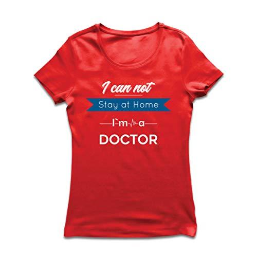lepni.me Camiseta Mujer No Puedo Quedarme en Casa Soy Doctor Apoyo Rregalo de Agradecimiento (Large...