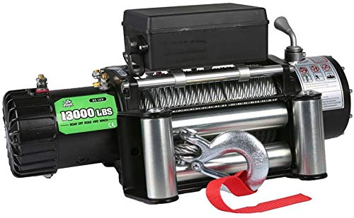 Offroad Boar Synthetic Rope Waterproof Electric Winch - 13000 lb Load Capacity
