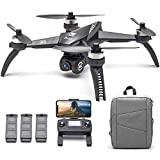 IKAYAAA MJX Bugs 5W B5W RC Drone con cámara 4K Drone 5G WiFi Sin escobillas RC Quadcopter GPS Track Vuelo Punto de interés Gesto Foto Video Mochila portátil 3 baterías