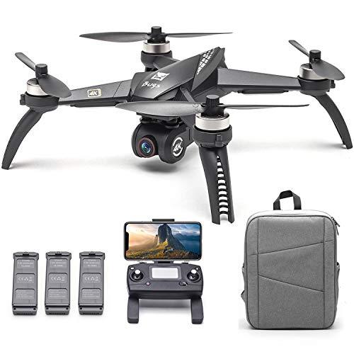 Kedelak Bugs 5W B5W RC Drone con Fotocamera 4K Drone 5G WiFi Brushless RC Quadcopter GPS Traccia Punto di Interesse di Volo Gesto Foto Video Zaino Portatile 3 Batterie