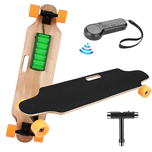 elifine Youth Electric Skateboard Electric Longboard with Wireless Remote Control