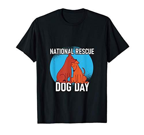 Rescue Dog Day Geschenk für Dackel, Welpen & Hunde Freunde T-Shirt