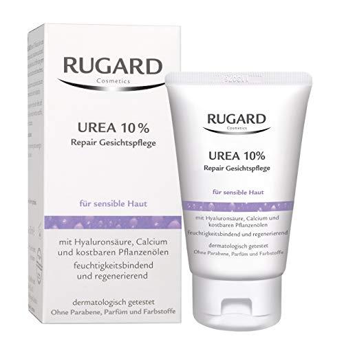 RUGARD Urea 10% Repair Gesichtspflege: Intentiv pflegende Gesichtscreme mit Urea für sensible Haut, 50ml