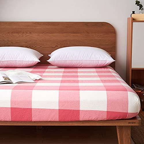 HAIBA Juego de sábanas – Tela de microfibra cepillada suave de fácil cuidado, sábana encimera, sábana bajera, resistente a la decoloración y encogimiento, 120 x 200 x 25 cm
