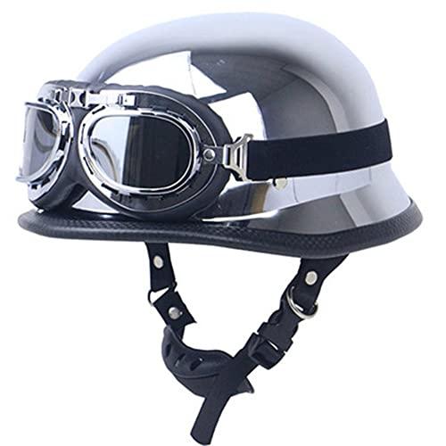 Casco de motocicleta de cara abierta, gafas de moda, para hombre y mujer, certificado por DOT/ECE personalidad, ATV UTV, moto, scooter, hombres y mujeres, a, XL,