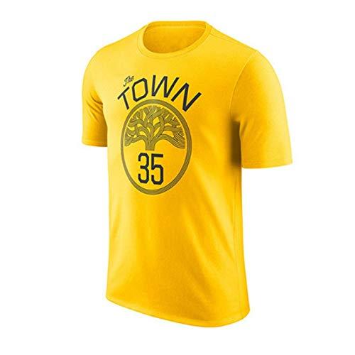 GJM Camiseta de Verano Camiseta NBA Warriors recompensa versión Manga Corta Camiseta de Curry Durant Thompson Cousins Amarillo Ropa Deportiva (Color : B, Size : S)