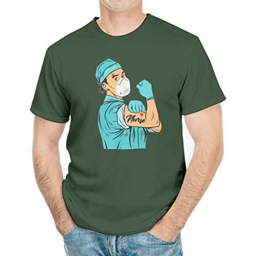 PJCustom Strong Man Nurse Coron-avirus 2020 T-Shirt Gift Tee white7 Medium Dark Green
