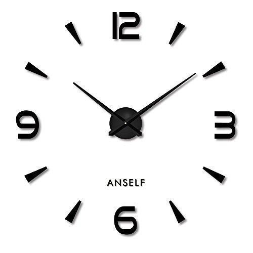 Anself ¡Creativo! DIY Reloj de pared extraíble de dígitos simples del efecto...
