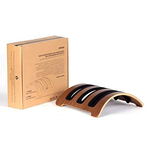 SAMDI Wooden Desktop Holder for MacBook,MacBook Pro, Vertical Laptop Stand,3 Slots(Black Walnut)